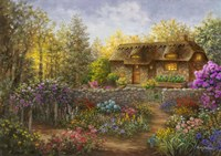 Cottage Garden in Full Bloom Fine-Art Print
