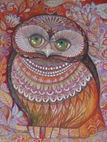 Gold Honew Owl Fine-Art Print