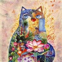 Lotus Cat Fine-Art Print