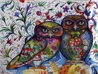 Middle Ages Owls Fine-Art Print