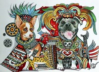 Chihuahua and Pitbull in Mexico Fine-Art Print