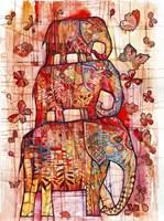Three Elephants Fine-Art Print