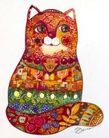 Judaica Folk Cat Fine-Art Print