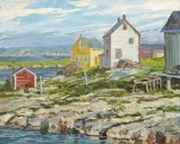 Fisherman's Houses Badger's Quay Fine-Art Print