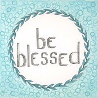 Be Blessed Swirls Fine-Art Print