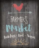 Farmer's Market - Chalkboard Fine-Art Print