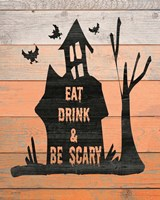Eat, Drink and Be Scary Framed Print