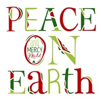 Peace on Earth on White Fine-Art Print