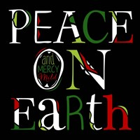 Peace on Earth on Black Fine-Art Print
