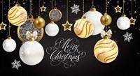 Merry Christmas Gold Fine-Art Print