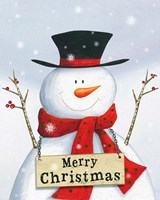 Merry Christmas Snowman Fine-Art Print