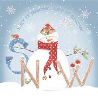Snowman Snow Fine-Art Print