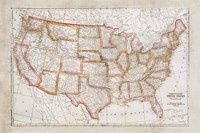 Map of USA Fine-Art Print
