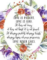 1 Corinthians 13 4, 7-8 Fine-Art Print