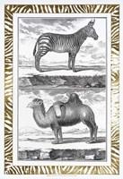 Gilded Safari II - Metallic Foil Fine-Art Print