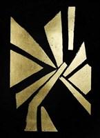 Gold Foil Symbiotic VI on Black Fine-Art Print