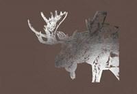 Silver Foil Moose on Bitter Chocolate Fine-Art Print