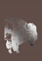 Silver Foil Buffalo on Bitter Chocolate Fine-Art Print