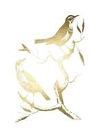Gold Foil Birds I Fine-Art Print