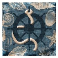 Steering Wheel Blue Fine-Art Print