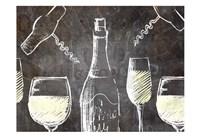 Chalkboard Wine 1 Fine-Art Print