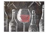 Chalkboard Wine 2 Fine-Art Print