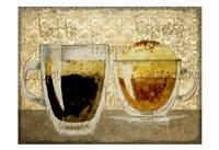 Damask Coffee 1 Fine-Art Print