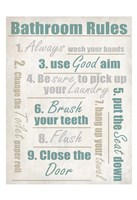 Concrete Bathroom Rules Fine-Art Print