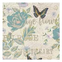Carte Postal Floral 1 Fine-Art Print