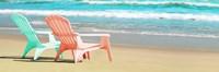 Bright Adirondak Chairs on the beach Fine-Art Print