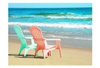Adirondak Chairs on the beach Fine-Art Print