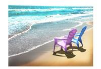 Bright Adirondak chairs right 1 Fine-Art Print