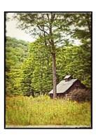 Country Barn 2 Vintage Border Fine-Art Print