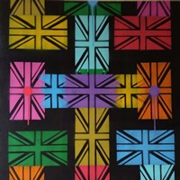 Union Jack Cross Fine-Art Print