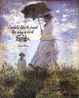 Monet Quote Madame Monet and Her Son Fine-Art Print
