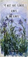 Monet Quote Purple Irises Fine-Art Print