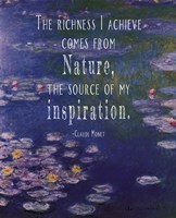 Monet Quote Waterlilies at Giverny Fine-Art Print