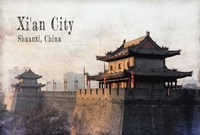 Vintage Xi'an City, China, Asia Fine-Art Print