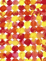 Pink Yellow Red Orange Flowing Paint Fine-Art Print