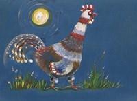 Coq A L'aube Fine-Art Print