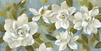 Gardenias on Slate Blue Fine-Art Print