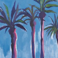 Palm Trees Morocco with Pink Fine-Art Print