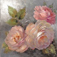Roses on Gray II Fine-Art Print