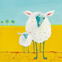Mama and Baby Sheep Fine-Art Print