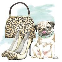 Glamour Pups IV Framed Print