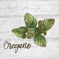 Oregano on Wood Framed Print