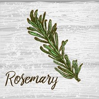 Rosemary on Wood Framed Print