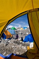 Tents of Mountaineers , Mt Everest, Nepal Fine-Art Print