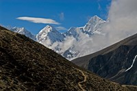 The Everest Base Camp Trail snakes along the Khumbu Valley, Nepal Fine-Art Print