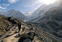 A trekker on the Everest Base Camp Trail, Nepal Fine-Art Print